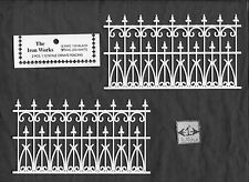 Victorian Railing dollhouse Miniature 1/12 scale NWC200  2pc plastic white