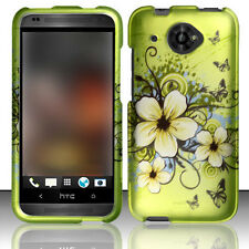Virgin Mobile HTC Desire 601 Rubberized HARD Case Phone Cover Hawaiian Flowers