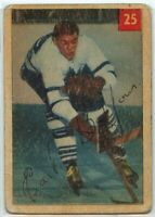 1954-55 Parkhurst Hockey #25 Earl Balfour RC Good Condition (2020-11)