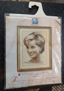 Vintage 2002 Queen of Hearts Princess Diana in Happier Days Cross Stitch Kit