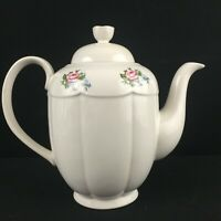 Vintage Lidded Teapot by Tabletops Unlimited Victoria Floral Bouquet