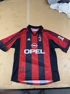 Maglia Calcio Milan Centenario 1899 1999 Adidas Opel Numero 11 Ganz Taglia L