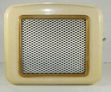 Rare ancienne enceinte amplifiée (par lampes) pour radios etc.