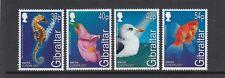 GIBRALTAR 2001 EUROPA Water & NATURE  WILDLIFE  set of 4 - MNH