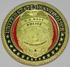 MILITARY CHALLENGE COIN U. S. NAVY POLICE LAW ENFORCEMENT