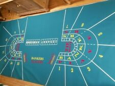 Authentic Ballys Hilton Baccarat Layout Full Size Genuine Casino Quality