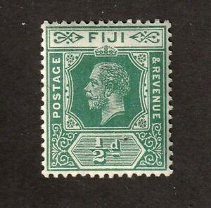 Fiji Stamp #70a, Green,  MNHOG, XF, KEVII 1904, George V, SCV $30