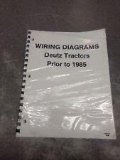 WIRING DIAGRAMS FOR DEUTZ TRACTORS 70276487