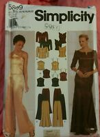 Simplicity 5899 size R5 14, 16, 18, 20, 22 women's fitted long pants skirt tops
