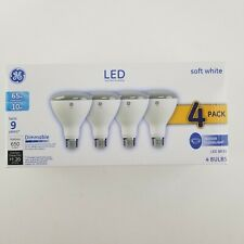 Ge 4 Pk 65w 10w Dimmable Indoor Floodlight Soft White LED BR30 Bulb 93247