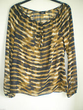 Women's Animal Print Blouse Scoop Neck Tops & Shirts ,no Multipack