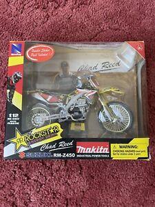 New Ray 1:12 Suzuki Rmz450 Makita/rockstar Chad Reed Motocross Model Bike