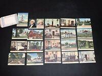Vintage Souvenir Views - Set of 20 Colored Pictures of Mount Vernon, VA Virginia