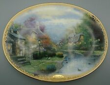 Thomas Kinkade Ltd Ed Lamplight Brooke Decorative Hard-Fire Porcelain Plate 1994