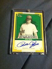 Pete Rose Autographed Leaf Baseball Card