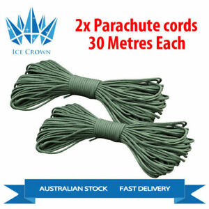 2x 30m 550 Parachute Cords Camping Hiking Climbing Outdoor BNE Stock