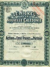Nouvelle Calédonie & Dépt 75 - Le Nickel de la Nouvelle Calédonie du 25/03/1909
