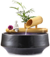 Fountain 8 in. 1-Tier Bamboo with Plant Holder-Complete with Pump and Tubing