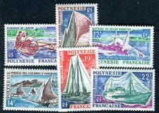 POLYNESIE 1966 Yvert 36-41 ** POSTFRISCH TADELLOS SATZ S>CHIFFE (F3885