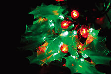 10.9M 40 HOLLY & BERRY 120 LED CHRISTMAS STRING LIGHTS