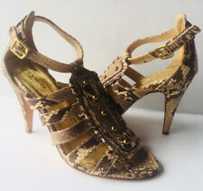 Coach Women's Heels Shoes Size 7 B US Animal Snakes Print Made in Italy