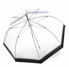 Knirps C.760 Stick Transparent Regenschirm Accessoire Hyperion Weiß Schwarz Neu
