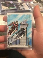 2018 Marvel Masterpieces Sketch Card Ironman By Ron Leary 1/1