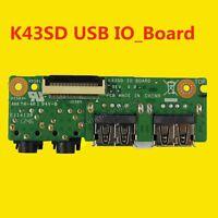 Original For ASUS A43E A43S K43S X43S Audio USB board K43SD IO BOARD REV 6.0