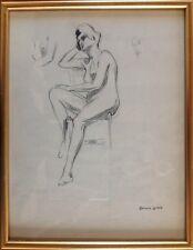 Edouard LEVERD,Paris 1881-1953.Nu assis.Esquisse au crayon.SBD.33x24.Circa 1910.