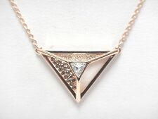 Retired Hillock Triangle Pendant Rose Gold Plating Swarovski Jewelry 5345297
