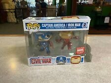 Funko POP! Deluxe Marvel Collector Corps 2 Pack CAPTAIN AMERICA & IRON MAN