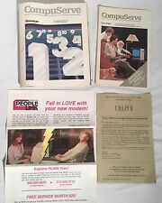 Vintage COMPUSERVE Almanac People Link Delphi Online Service Manuals Pamphlets