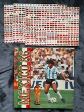 Mexico 86 World Cup Book with flag stickers