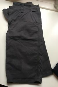 Mens Mossimo Charcoal Grey Cotton Canvas Shorts - Size 30 Regular Fit