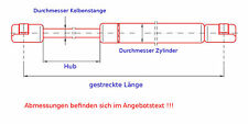 2x Gasdruckfeder/ Gasfeder Lifter Dämpfer gas spring Peugeot 207 Schrägheck H...