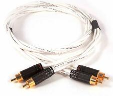 Negro rodio Twist Estéreo interconexiones | Hi-fi mundo 5 Globos revisado | 1 Mtr
