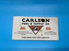 VTG. Carlson Fuel & Supply Co. Keppers Chicago Coke Central Ave.