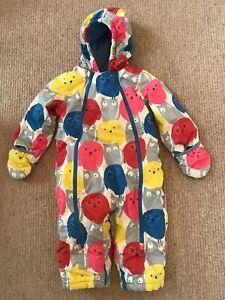 Baby Boden Snowsuit snow suit 18-24 months owl design