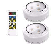 Brilliant Evolution BRRC134 Wireless LED Puck Light 2 Pack With Remote Control