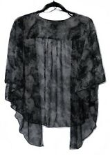 Womens TIE DYE Plus Size 2X Black, Charcoal Chiffon Cardigan Bolero WearOrGoBare