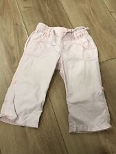 Baby Girls Pink Trousers. H&M. 12-18 Months. Long Or Three Quarter