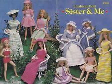 Sister & Me, Annie's Attic Fashion Doll Clothes Crochet Pattern Booklet 87D21