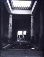 ITALIE Pompei Péristyle c1900, NEGATIF Photo Stereo Plaque Verre VR10L8n5