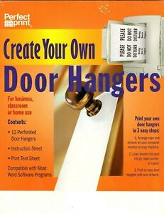 Create Your Own Door Hangers - Perfect Print - From your Pinter Pack of 12