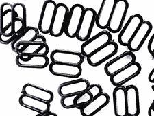 80 Black 11 mm Bra Strap Adjustment Sliders Fig 8 Adjusters Lingerie/Underwear