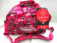 RYANAIR 2ND SIZE CARRY ON BAG [ PINK BUTTERFLY  /BOARDING BAG/ SMALL HOLDALL