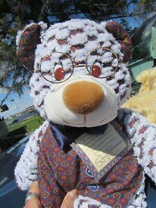 "VINTAGE TEDDY BEAR NUBBIE STAN NORTH AMERICAN CO  21"" RARE PLUSH W SIGNED TAGS"