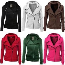 Women Ladies Zipper Tops Hoodie Hooded Sweatshirt Coat Jacket Casual Slim Jumper