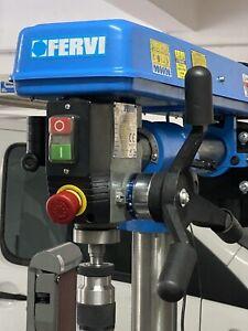 ✔️Trapano a colonna radiale da banco con trasmissione a cinghia Fervi 0757