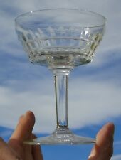 Val Saint Lambert - Coupe à champagne en cristal taillé, modèle Esneux